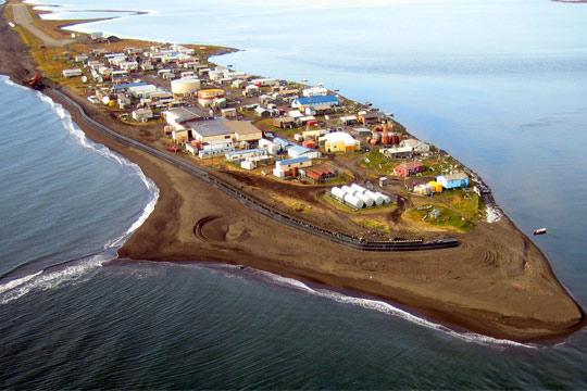 Kivalina - Alaska - Aerial View - Summer