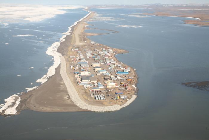 Kivalina - Alaska - Aerial View - Winter