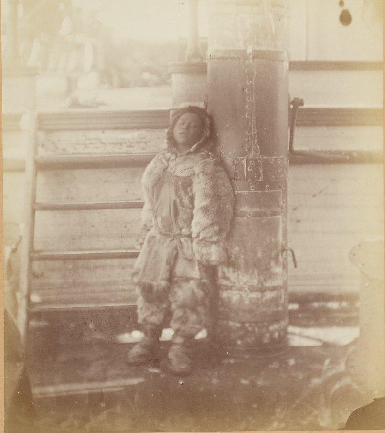 Photos of Eskimo Inuit - 1879 - Boy By Pole
