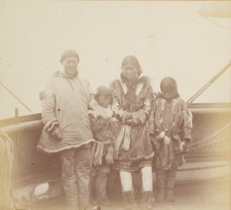 Photos of Eskimo Inuit - 1879 - Family