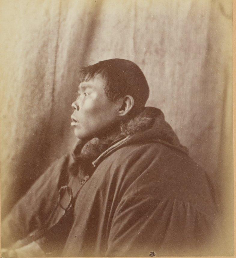 Photos of Eskimo Inuit - 1879 - Profile