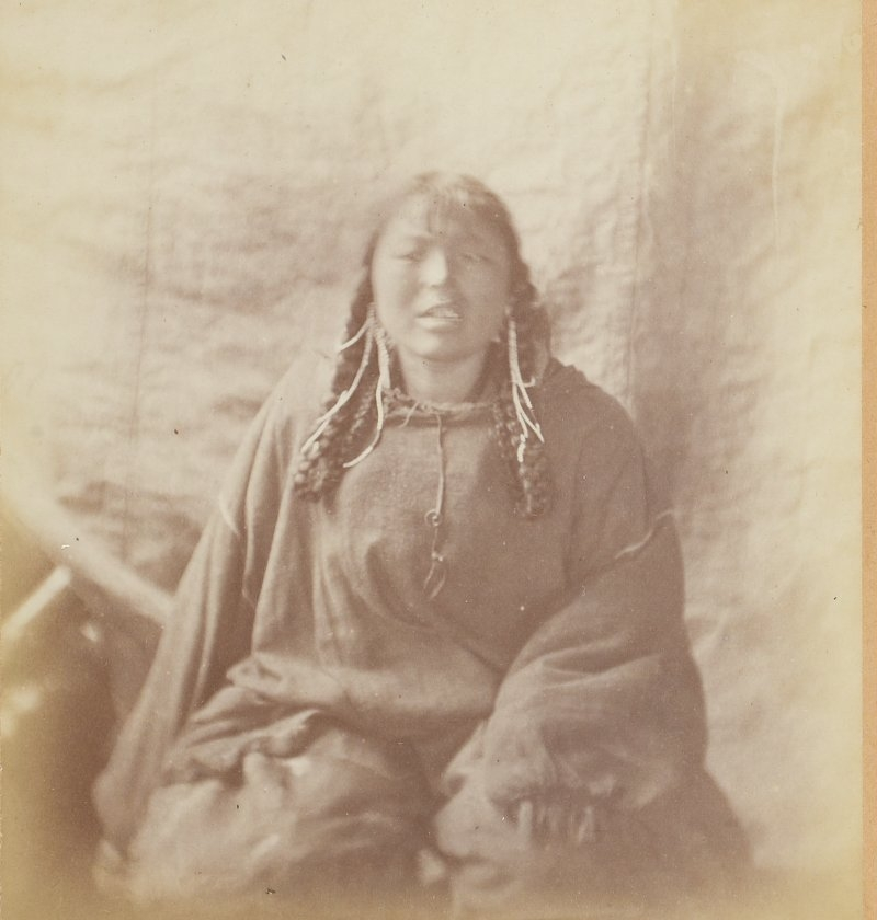 Photos of Eskimo Inuit - 1879 - Young Girl