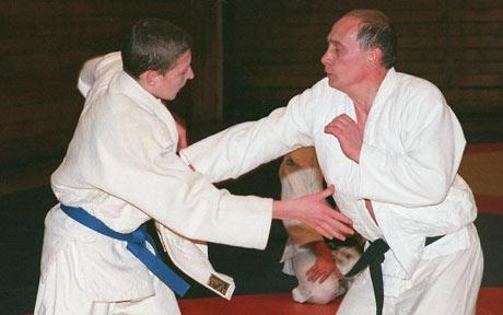 Putin Looking Like Hero James Bond - Karate