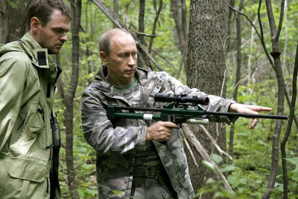 Putin Looking Like Hero James Bond - Rifle