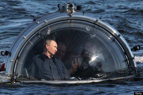 Vladimir Putin Rides In A Submersible