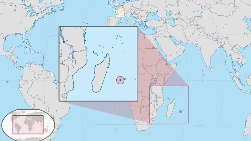 Reunion Island - French - Position Map