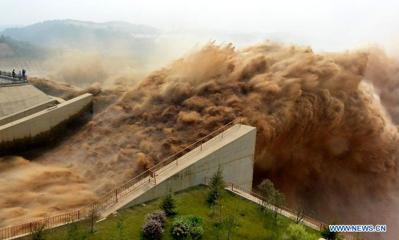 Silt - Xiao Lang Di Dam - Yellow River Clearance - Up Ramp