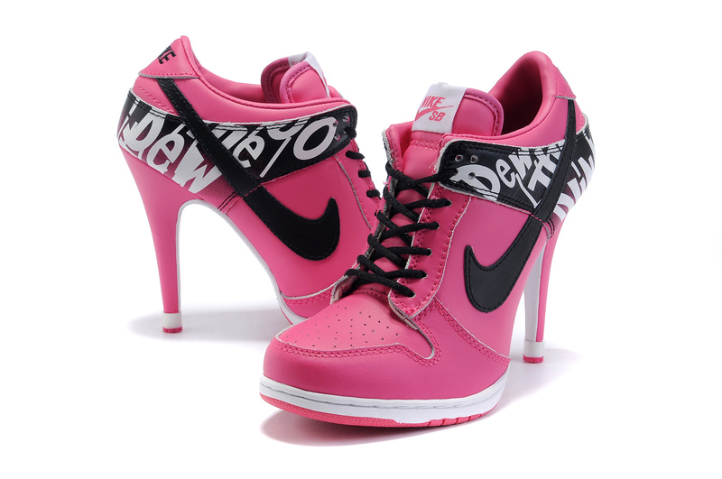 Worst Trainers Ever Made - High Heeled Nike Pink Horror