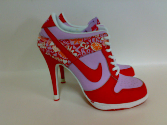 Worst Trainers Ever Made - High Heeled Nike Red Gloss Sapatos