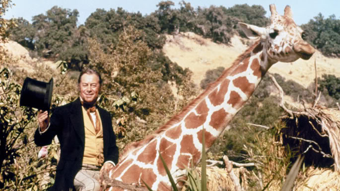 Dr Dolittle Riding Giraffe Talks To Animals