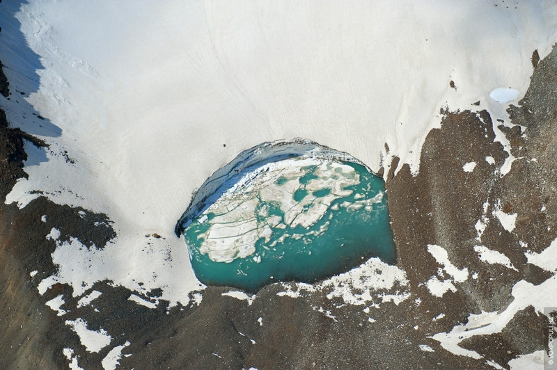Kazakhstan Photo Collection From Helicopter - Ice Pool