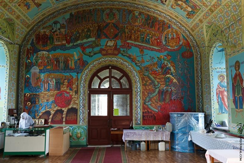 Malinovsky monastery - Russia - Painted Wall