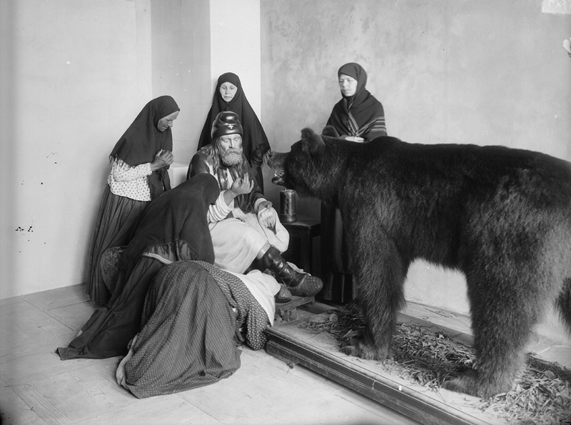 Russian Religious Pilgrimage 1900s - Bear Shrine
