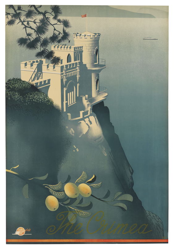 Russian Tourist Posters - The Crimea by Sergey Sakharov 1935