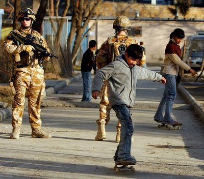 Skateistan - Afghan Girls Skateboarding - With Soldiers