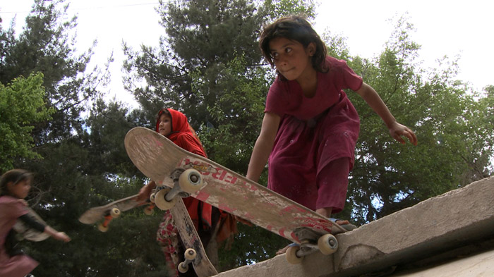 Skateistan - Afghan Girls Skateboarding - Young Girl Drops In