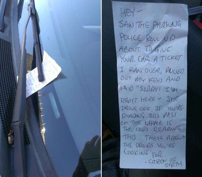 Good Samaritan Saves Driver From Parking Ticket