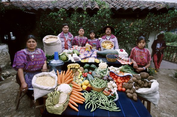 Hungry Planet - What the World Eats - Week of Shopping in Guatemala