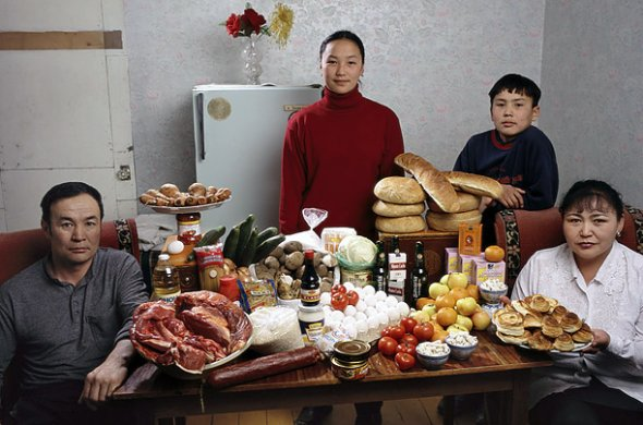 Hungry Planet - What the World Eats - Week of Shopping in Mongolia