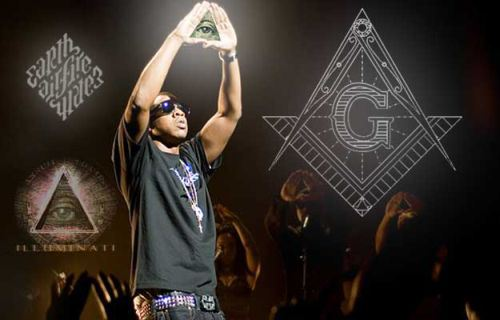 Jay Z - Illuminati Symbols - On Stage