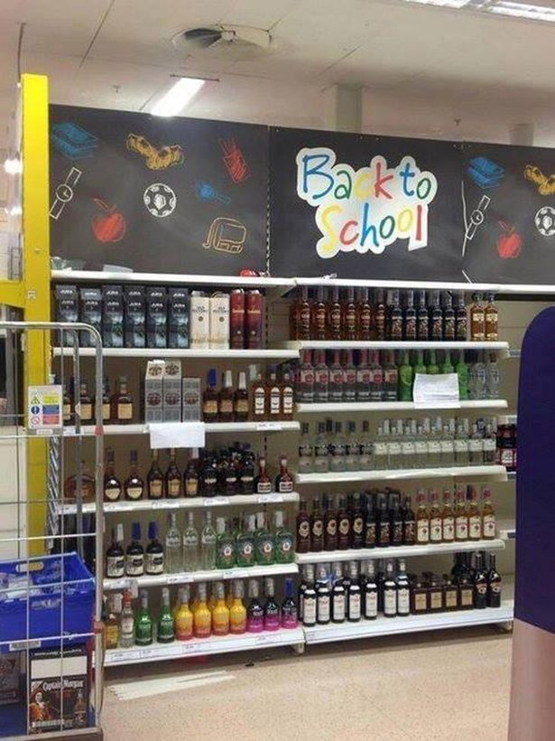 Tesco Swansea - Back To School Booze Aisle