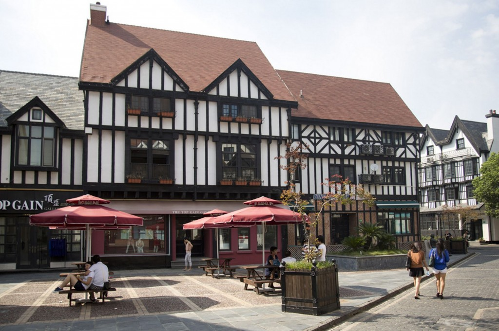 Thames Town - China - Ghost Town - Mock Tudor
