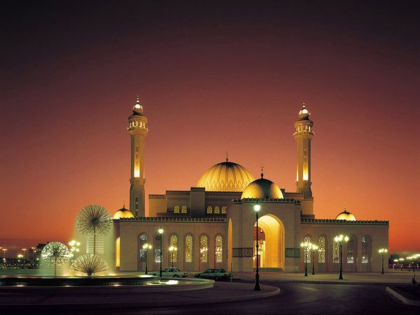 Bahrain Flag - Flags of the World - Mosque