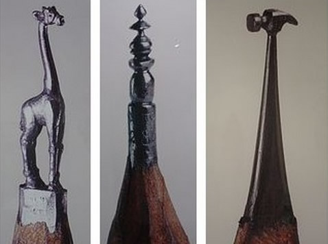 Dalton Ghetti - Pencil Art - Carvings - selection