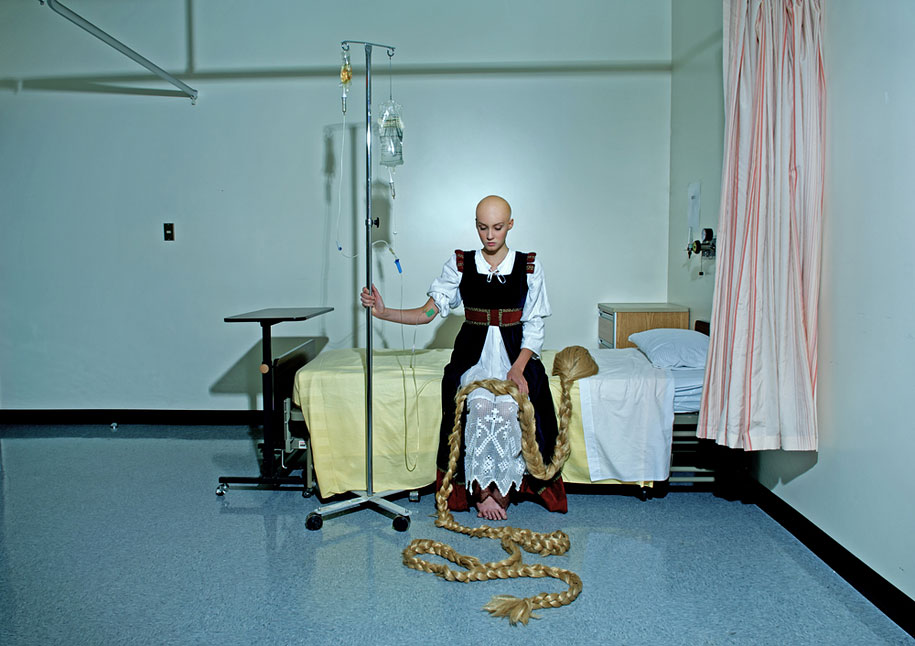Dina Goldstein - Fallen Princesses - Photo Project - Rapunzel with cancer