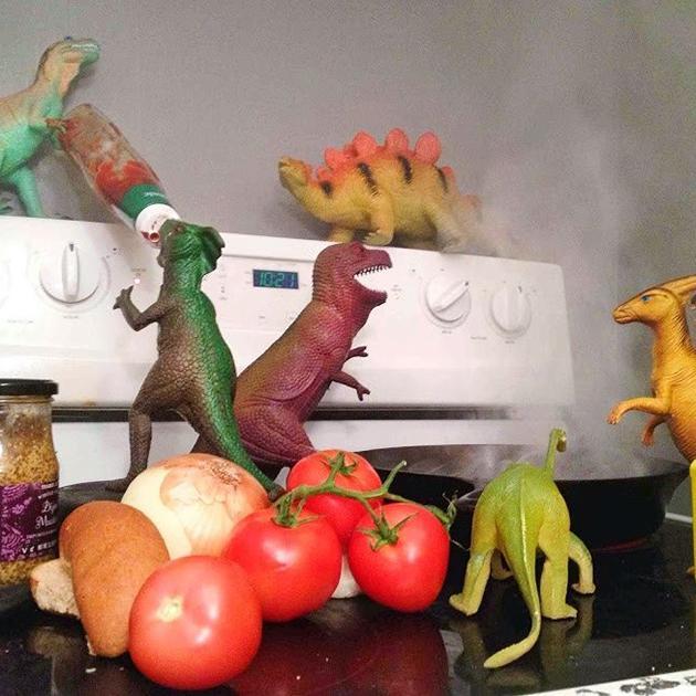 Dinovember - Cooking