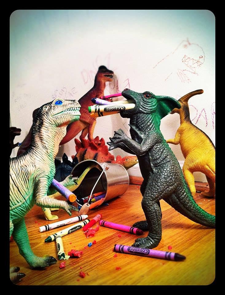 Dinovember - Crayons