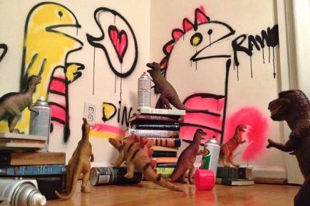 Dinovember - Graffiti