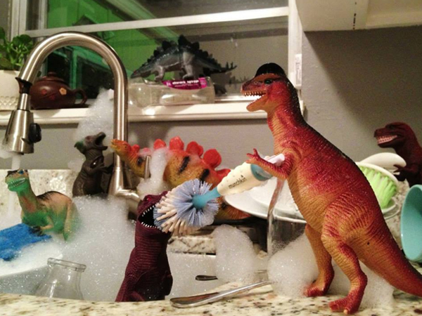 Dinovember - Washing up