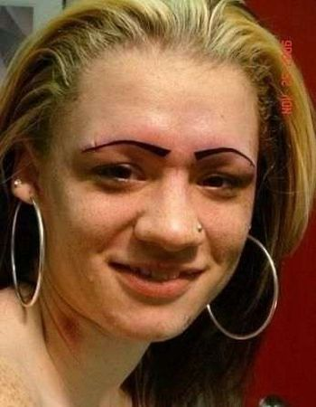 Eyebrows - Weird Bad Ugly - Tattoo
