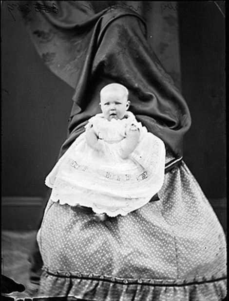 Hidden Mother Photographs - Victorian - curtain