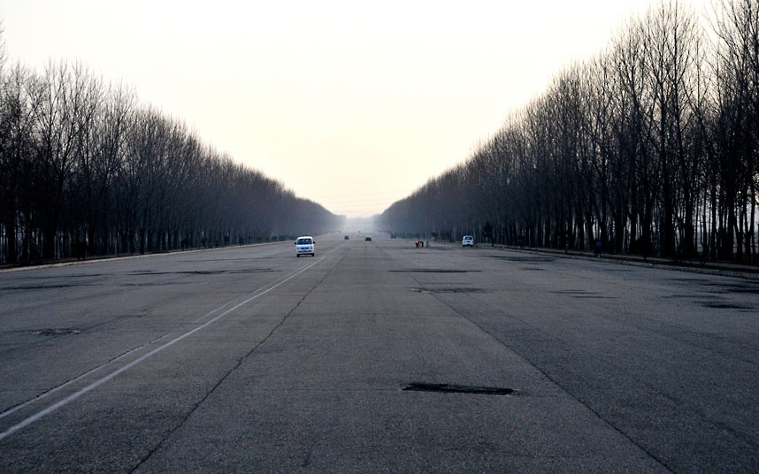 Inside North Korea - 8 Lane Motorway