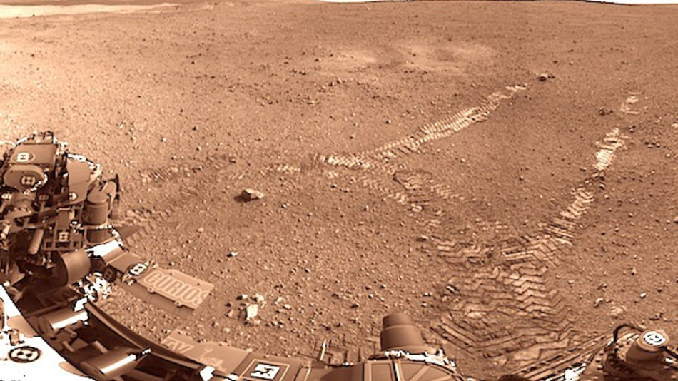 Mars Curiosity Descent - NASA - Landed Image