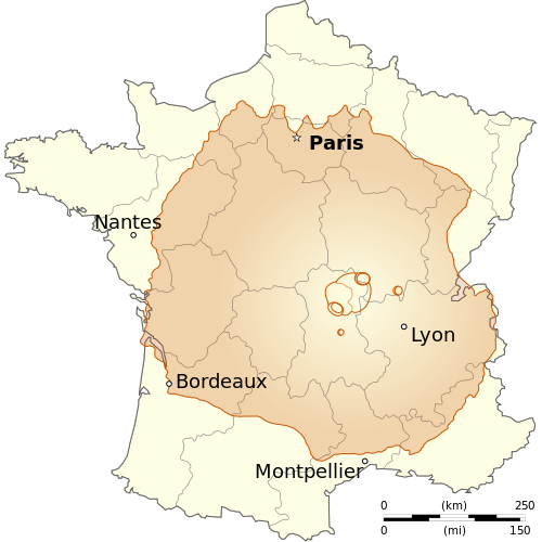 Olympus Mons - Biggest Volcano - Compared to France