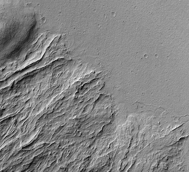 Olympus Mons - Biggest Volcano - Lava Flow