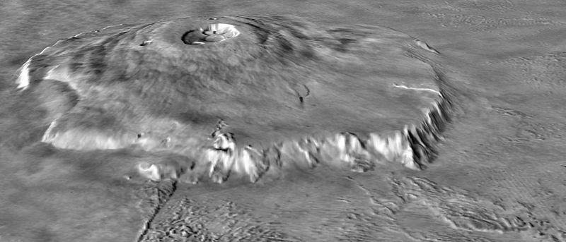 Olympus Mons - Biggest Volcano - Oblique