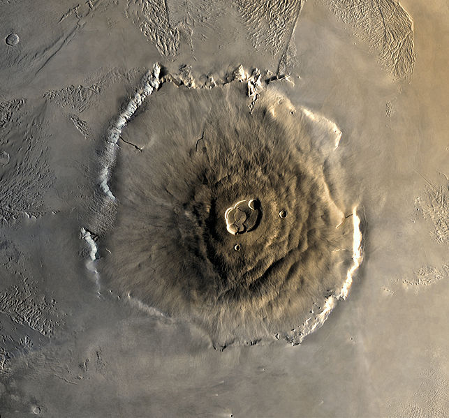 Olympus Mons - Biggest Volcano - Viking Photo