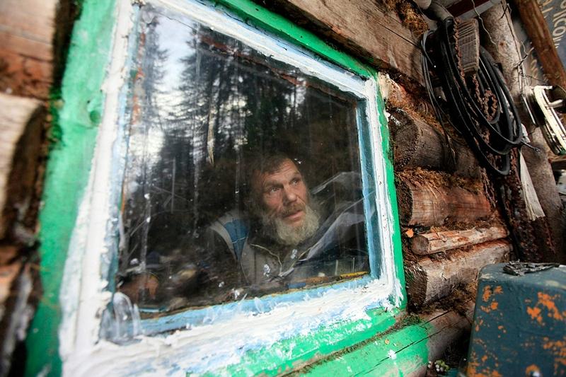 Siberian Hermit - Victor - Russia - In Hut