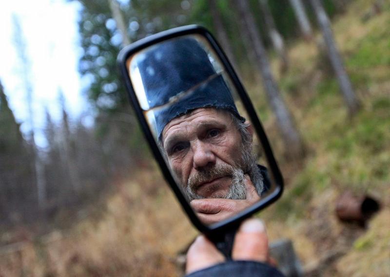 Siberian Hermit - Victor - Russia - Shaving Mirror