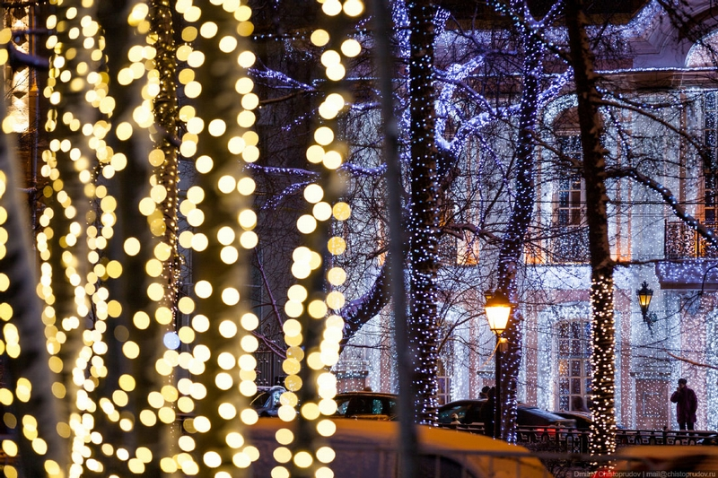Christmas In Moscow Russia - Art Photo
