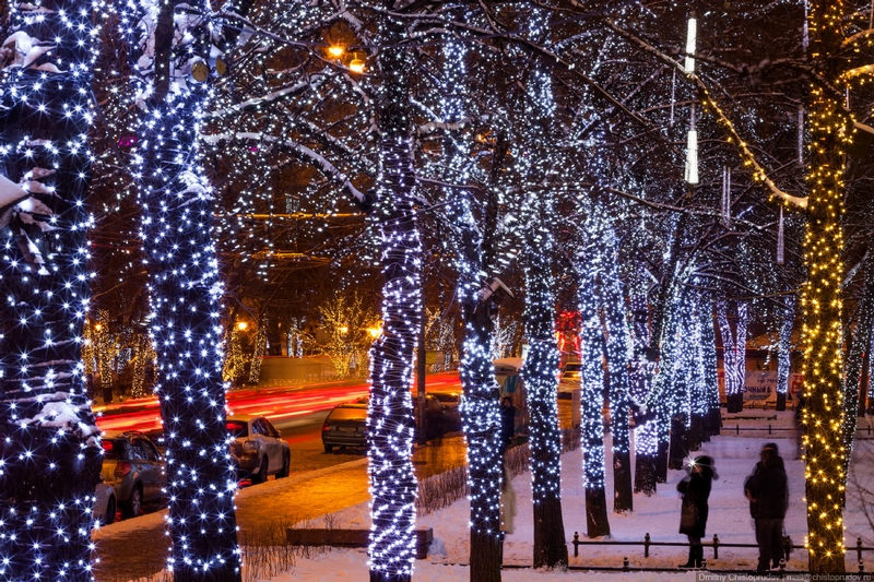 Christmas In Moscow Russia - Exposure