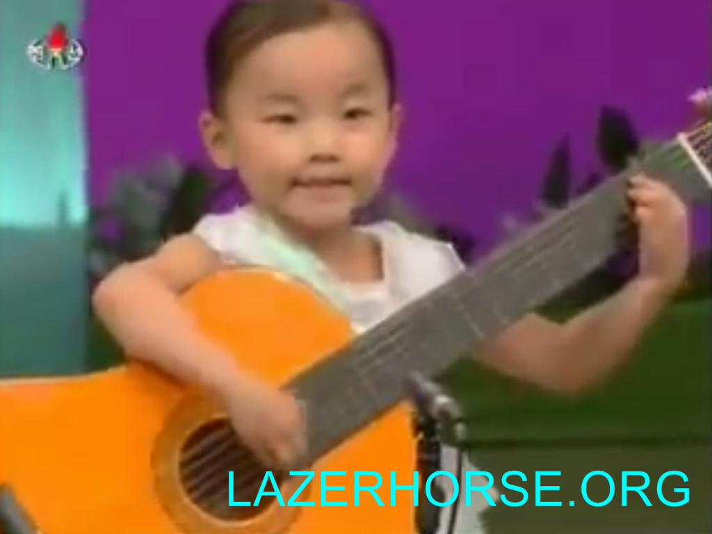 5 North Korean Children Playing Guitars That Are Bigger Than They Are