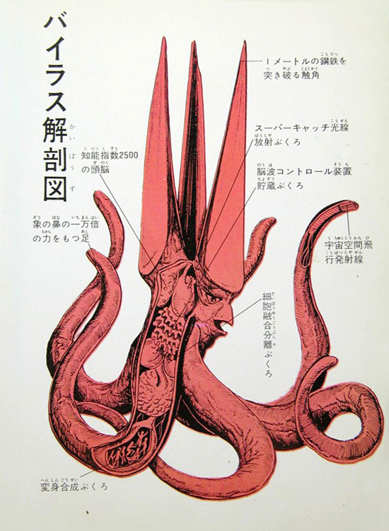 Gamera - Japan Cartoon Anatomy - Viras