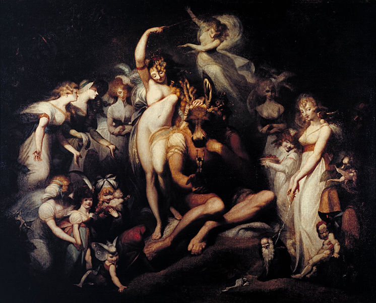 Henry Fuseli - Painter - Illuminati - Titania and Bottom