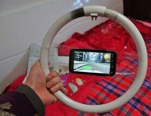 Human Ingenuity - iPhone Steering Wheel Adaptor