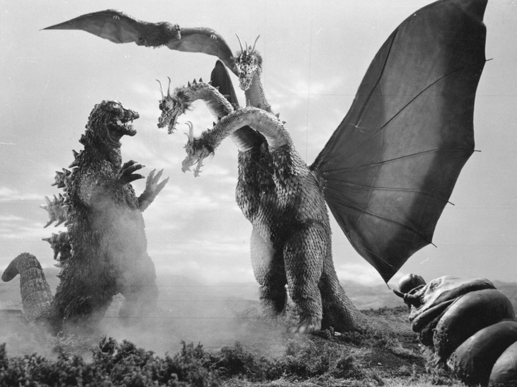 Japanese Monsters - Film - Ghidorah - three heads